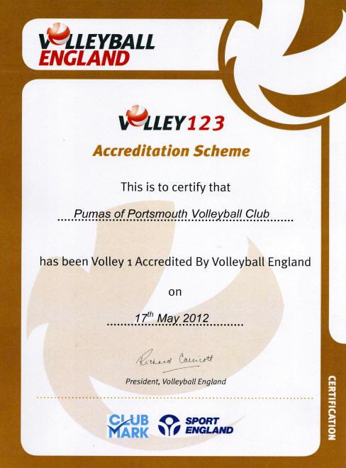 Volley 123 certificate